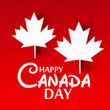 Happy Canada Day. Illustration of a Banner for Happy Canada Day Stock Images