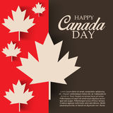 Happy Canada Day. Illustration of a Banner for Happy Canada Day Stock Photos