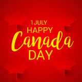 Happy Canada Day. Illustration of a Banner for Happy Canada Day Stock Photography