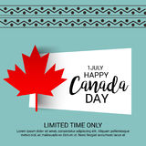 Happy Canada Day. Illustration of a Banner for Happy Canada Day Royalty Free Stock Image