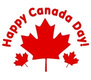 Happy Canada Day Maple Leaves Stock Photo