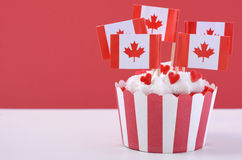 Happy Canada Day Party Cupcakes Royalty Free Stock Images