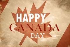 Happy Canada Day retro card in vector format. Royalty Free Stock Photos