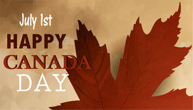 Happy Canada Day retro card in vector format. Stock Photography