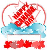 Happy Canada Day vector card Royalty Free Stock Images