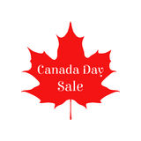 Happy Canada day vector sale card. Sticker for markets, shops Stock Image