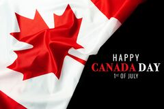 Free Happy Canada Day With Canada Flag Background Royalty Free Stock Photography - 187198497