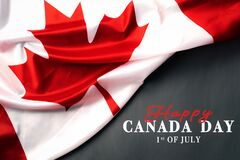 Free Happy Canada Day With Canada Flag Background Royalty Free Stock Photos - 187501748