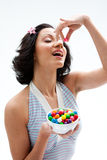 Happy candy girl Stock Photo