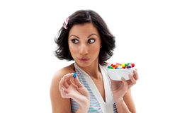 Happy candy girl Royalty Free Stock Images
