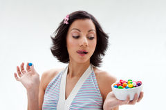Happy candy girl Royalty Free Stock Photo