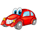 Happy car cartoon Stock Photography