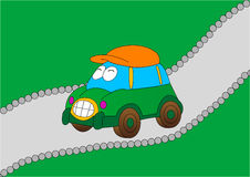 Happy car illustration Royalty Free Stock Photography