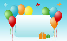 Happy card with balloons Royalty Free Stock Photos