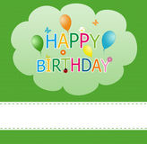 Happy card for birthday. Colorful card with balloons for invitation Royalty Free Stock Photo