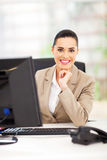 Career woman office. Happy career woman in office smiling Stock Images