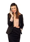 Happy Career Woman Using Her Phone Stock Image