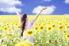 Happy carefree summer girl Royalty Free Stock Photography