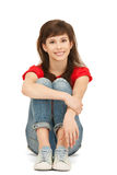 Happy and carefree teenage girl Stock Images