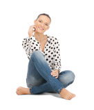 Happy and carefree teenage girl Royalty Free Stock Photo