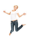Happy and carefree teenage girl Stock Image