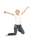 Happy and carefree teenage girl Royalty Free Stock Photography