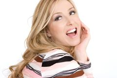 Happy carefree woman Stock Image