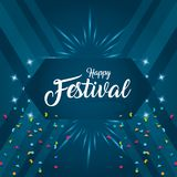 Happy carnaval card. With decorative elements vector illustration graphic design vector illustration