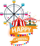 Happy carnival background Stock Photos
