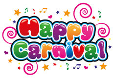 Happy Carnival. In Bright and bubble font Royalty Free Stock Photo