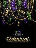 Happy carnival colorful party background Royalty Free Stock Photos