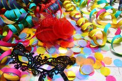 Happy carnival decoration royalty free stock photography