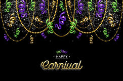 Happy carnival design background decoration Royalty Free Stock Images