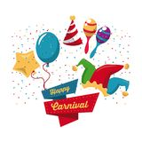 Happy carnival design. Icon vector illustration graphic Royalty Free Stock Photos