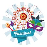 Happy carnival design. Icon vector illustration graphic Royalty Free Stock Images