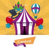 Happy carnival design. Icon vector illustration graphic Royalty Free Stock Photography