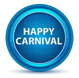 Happy Carnival Eyeball Blue Round Button vector illustration