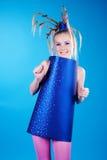Happy carnival girl royalty free stock image