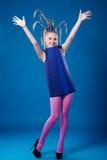 Happy carnival girl Stock Image