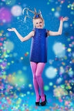 Happy carnival girl Stock Images