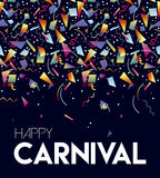 Happy Carnival party event poster design template Stock Image