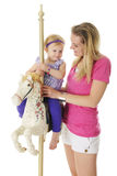 Happy Carousel Rider Royalty Free Stock Photography