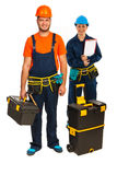 Happy  carpenters workers team Stock Photography