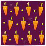 Happy carrot pattern Royalty Free Stock Photo