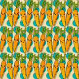 Happy carrot pattern Royalty Free Stock Photos