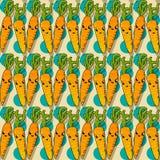 Happy carrot pattern Royalty Free Stock Photos
