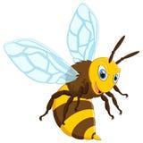 Happy carton bee. Illustration of Happy carton bee Royalty Free Stock Image