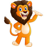 Happy carton lion posing Royalty Free Stock Photography
