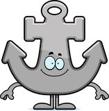 Happy Cartoon Anchor Royalty Free Stock Images