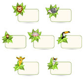 Happy cartoon animals - stickers Stock Photography